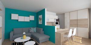 Interiérový design 1 izbového bytu