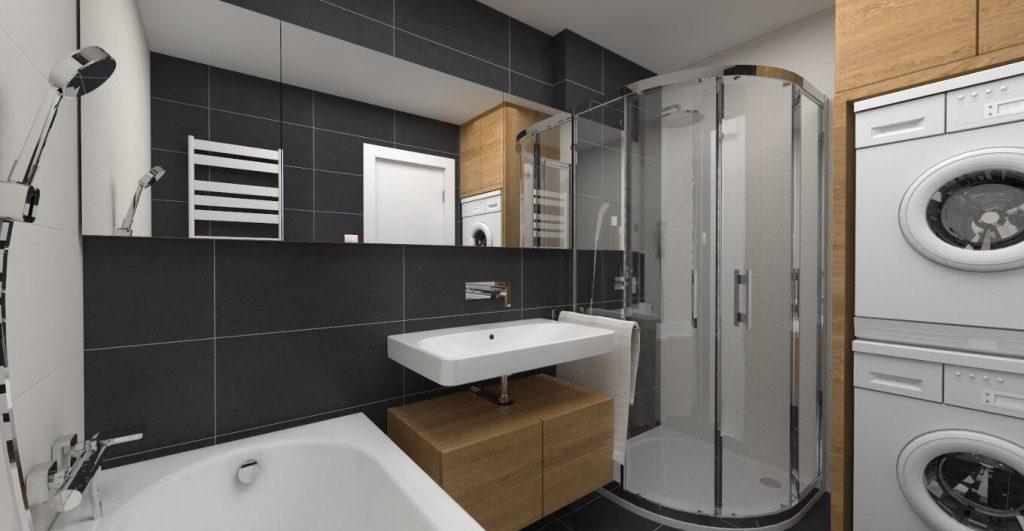 čierna kúpeľňa