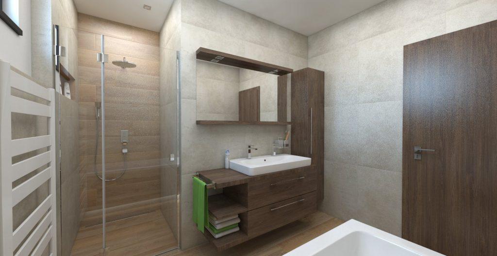 návrh kúpeľne imitácia betónu