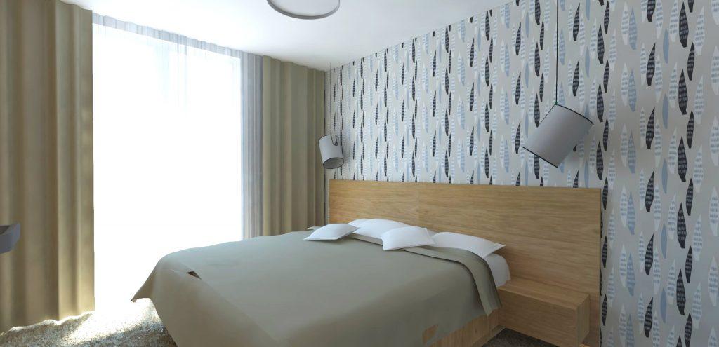 škandinávsky štýl spálňa