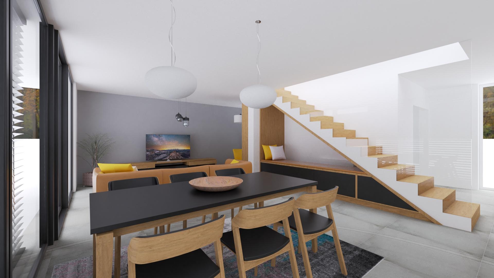 Moderný interiér návrh a vizualizácia