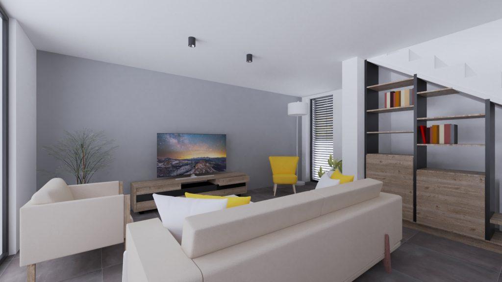 žlté kreslo ikea moderný interiér