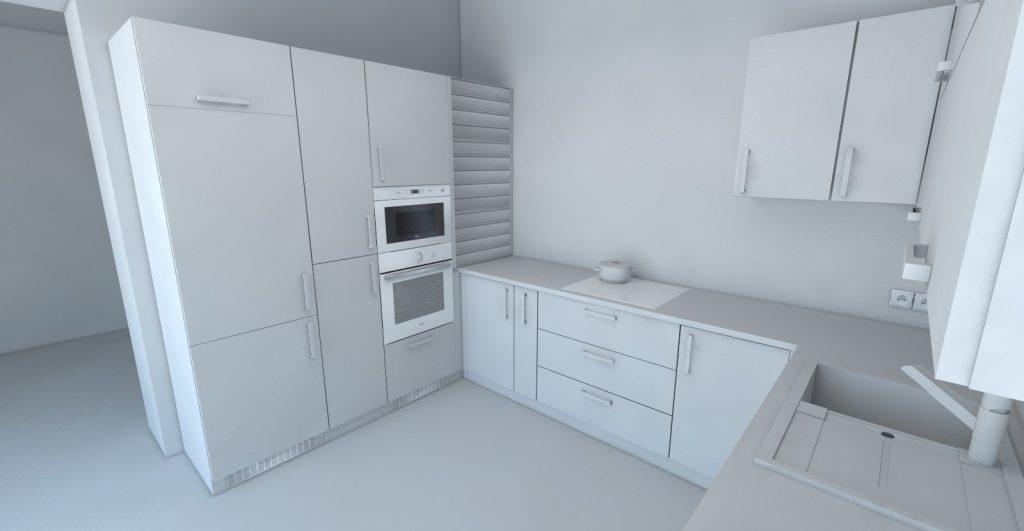 projekt kuchyne koncept bez materiálov