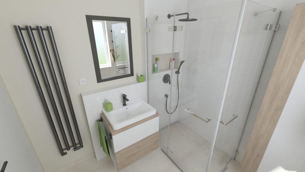 návrh kúpeľne bielo krémové obklady