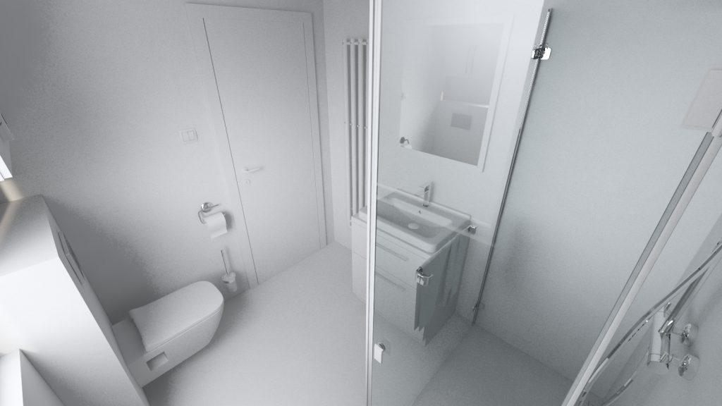 Kúpeľňa koncept umývadlo a závesné wc