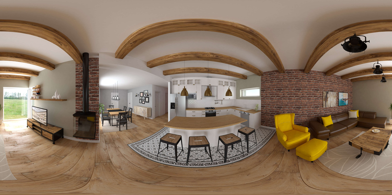 Panoramatické vizualizácie interiéru 360°