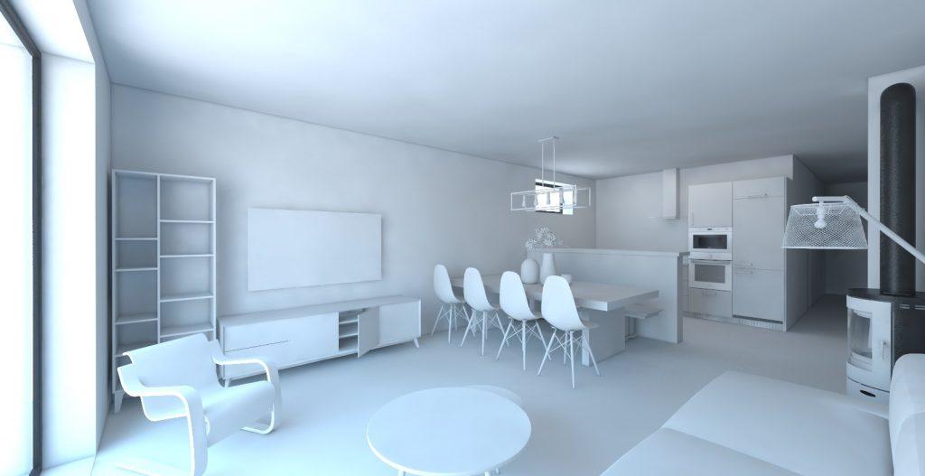 Návrh koncept zariadenia obývačky