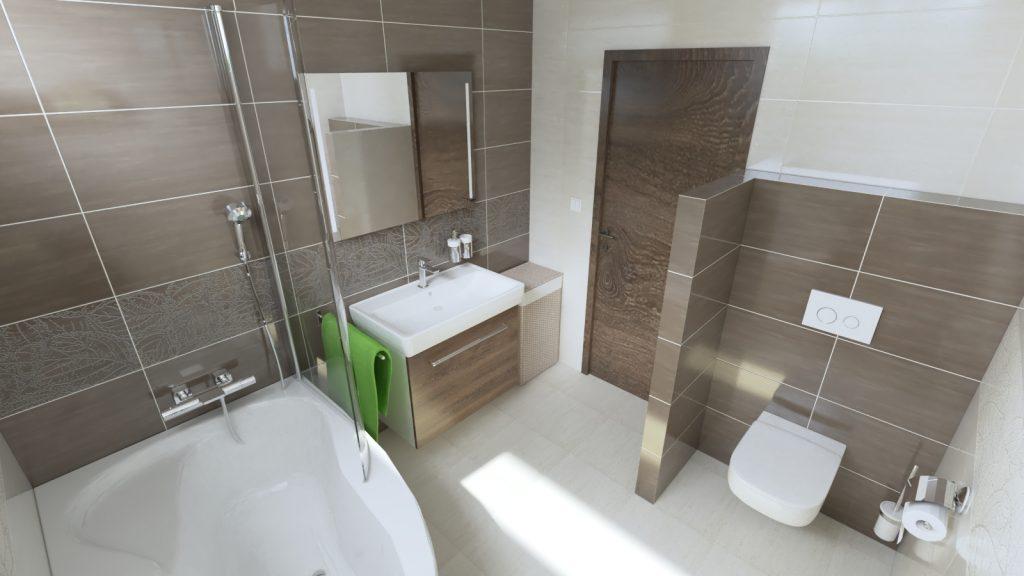 Kúpeľňa Antonella inšpirácie, závesné wc toaleta, hnedý obklad