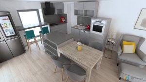dizajn interieru presov solivar, roztahovaci stol, kuchynska linka