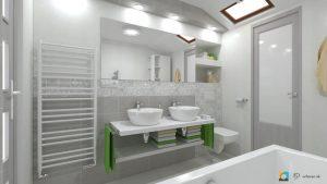 kúpeľňa rako extra 20x40, šedá, umývadlové misy na doske