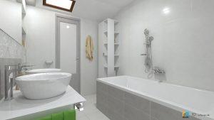 skrinka ikea, 3d návrh kúpeľne