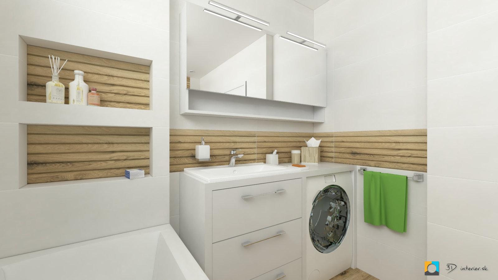 aký obklad do kúpeľne, drevo dekor, biela, albero