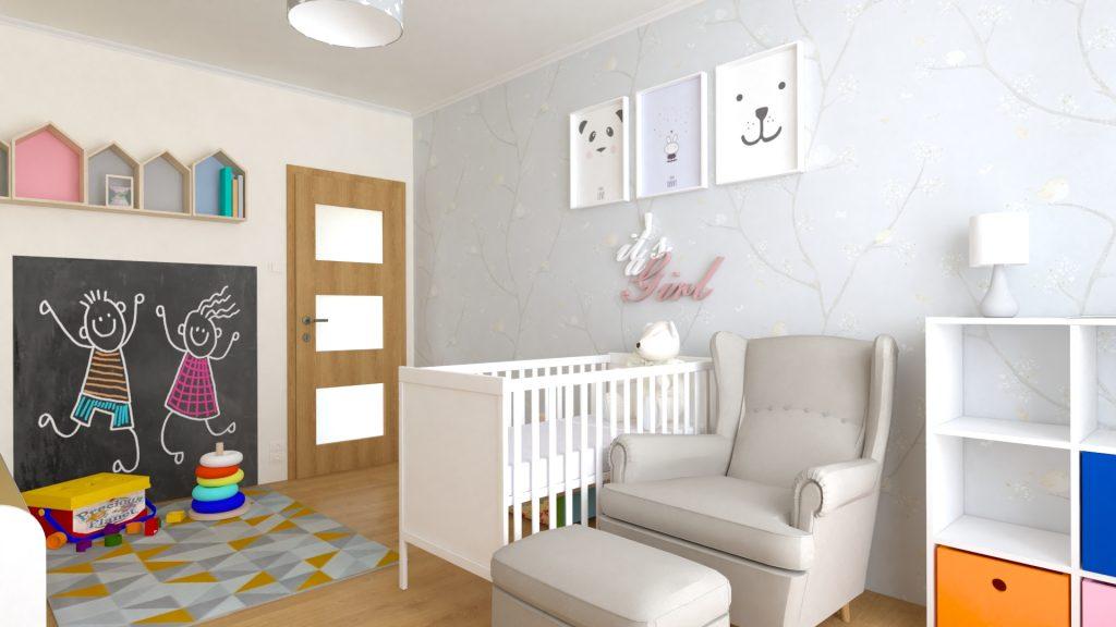 970fff0c9f3c Návrh detskej izby pre novorodenca - Košice - 3Dinteriér.sk