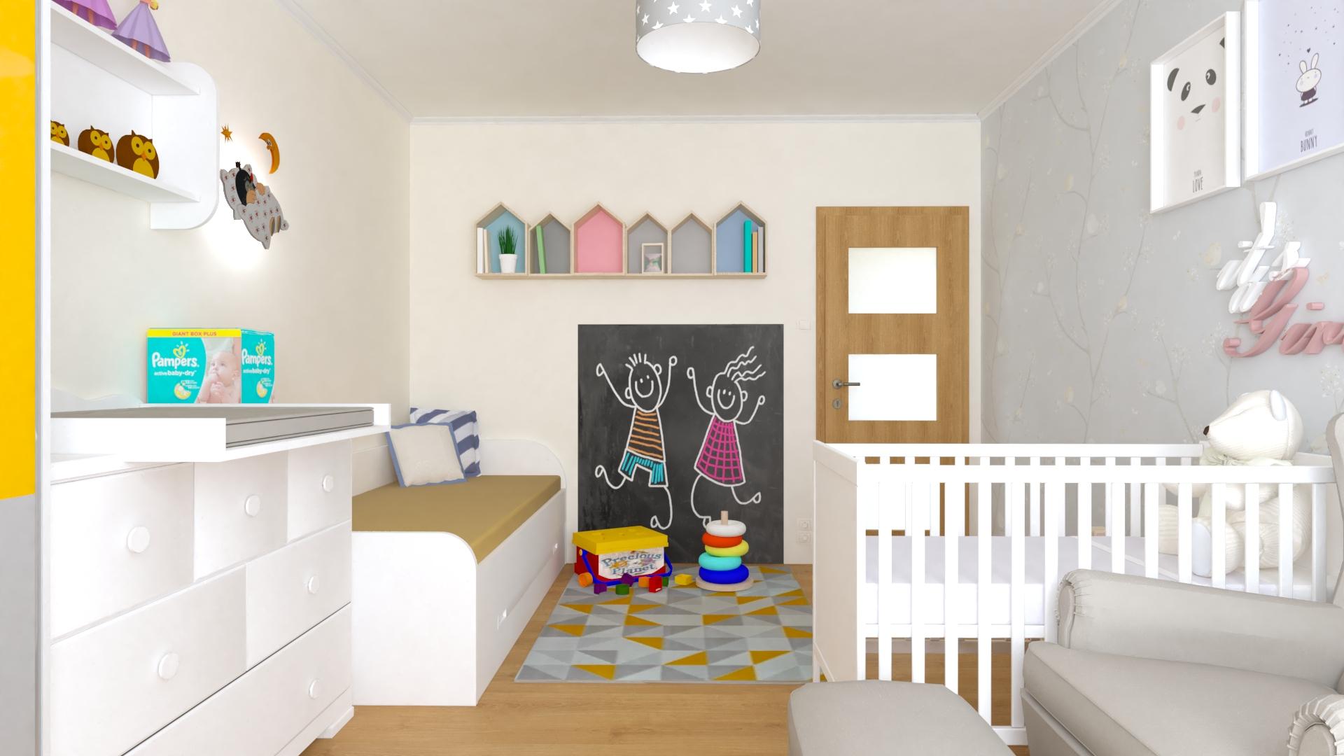Vizualizácia detska izba pre novorodenca
