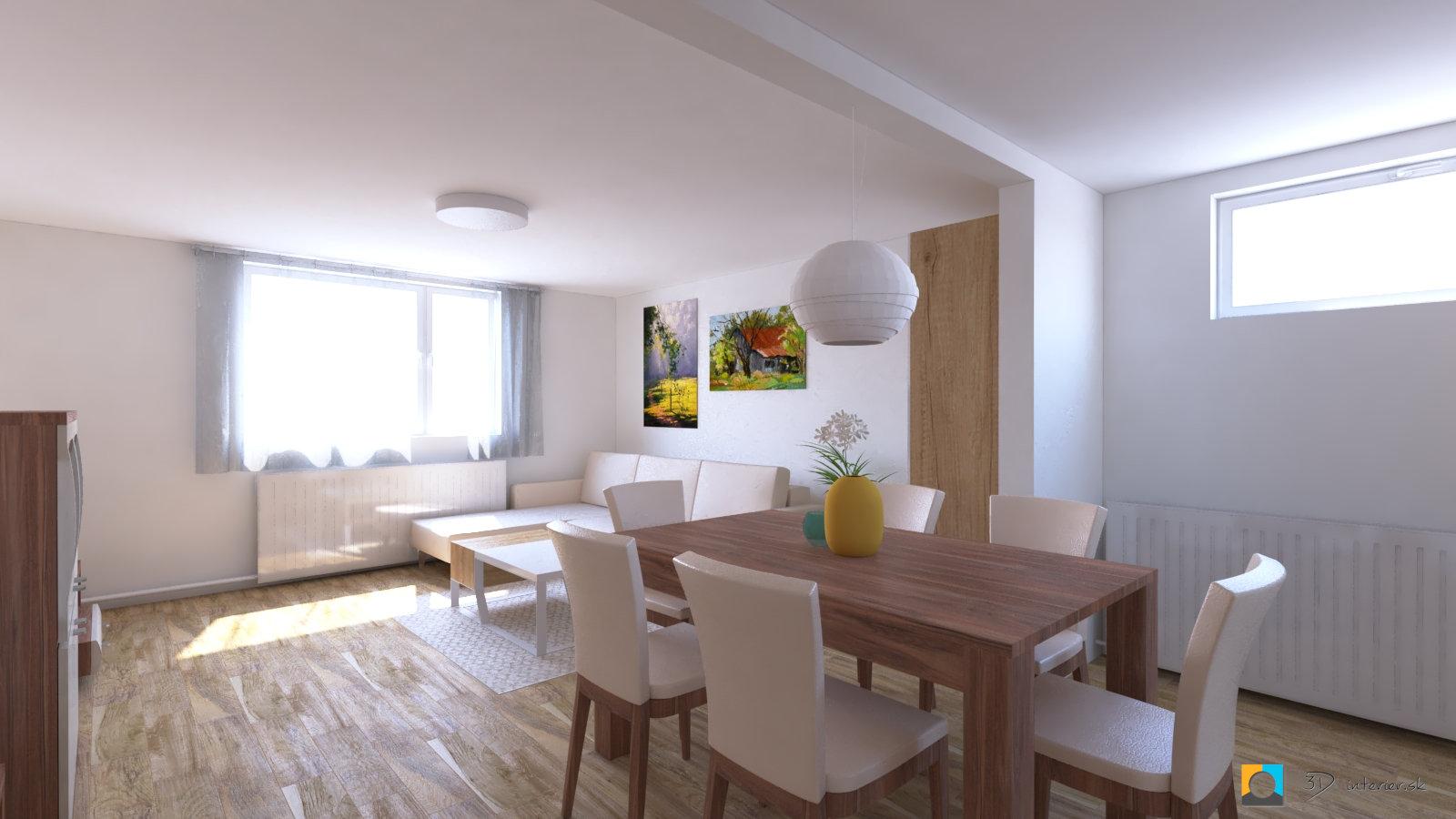 dizajnovy navrh interieru jedáleň