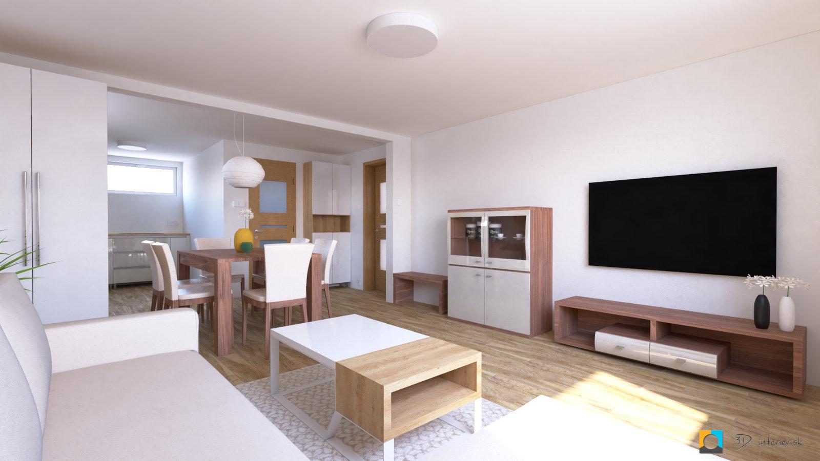 dizajnovy navrh interieru nábytok do obývačky