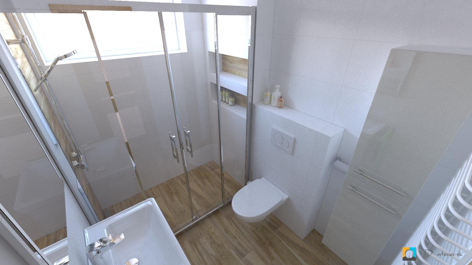 dizajnovy navrh interieru malá kúpeľňa