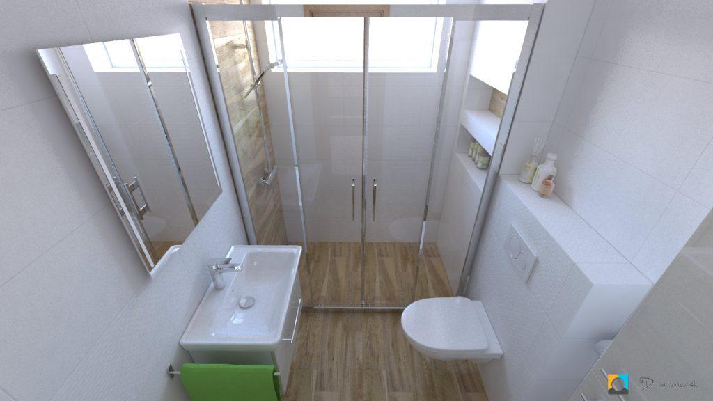 dizajnovy navrh interieru sprchový kút