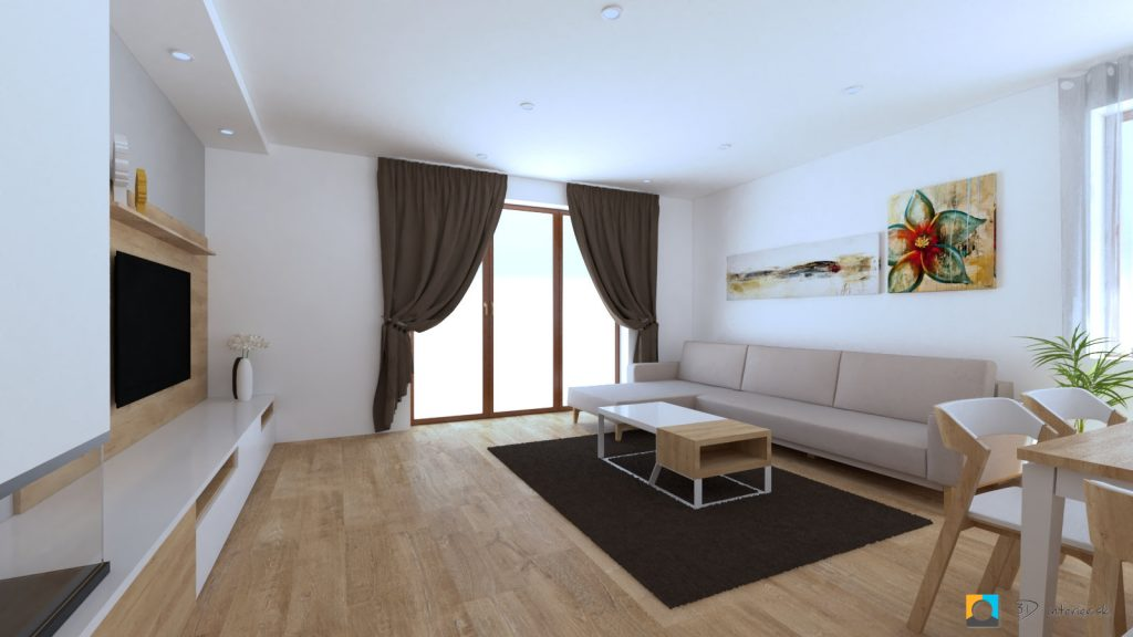 navrh interieru domu bungalov
