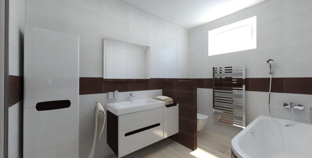 návrh interiéru bungalov kúpeľňa wenge umývadlo modo