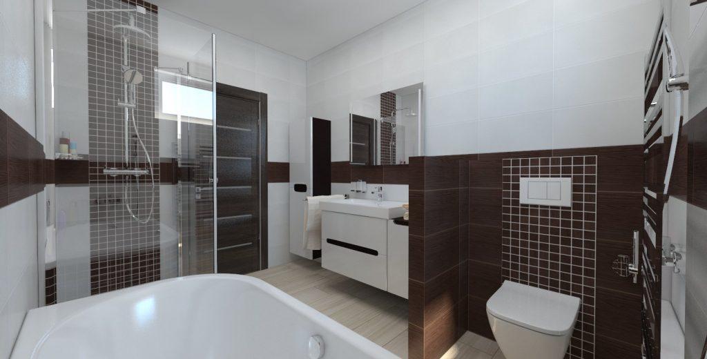 návrh interiéru bungalov kúpeľňa wenge wc modo
