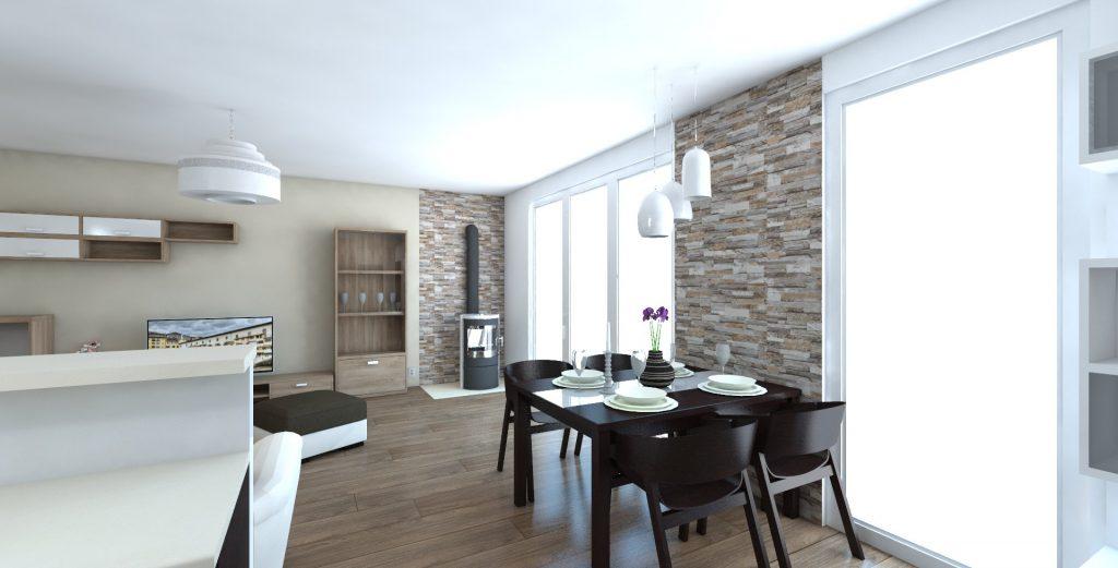 jedálneský stôl wenge kameň na stenu