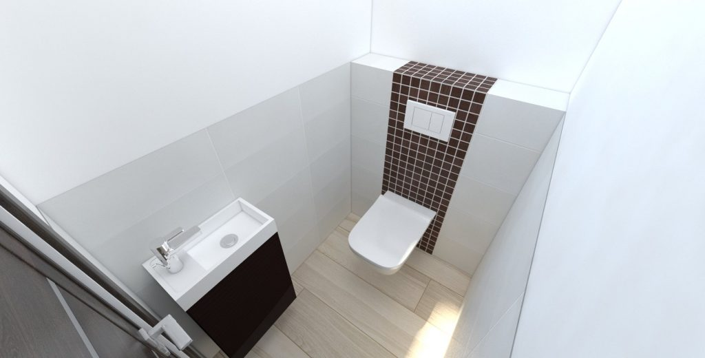 Návrh toalety wenge mozaika