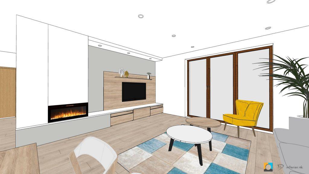 návrh interiéru koncept