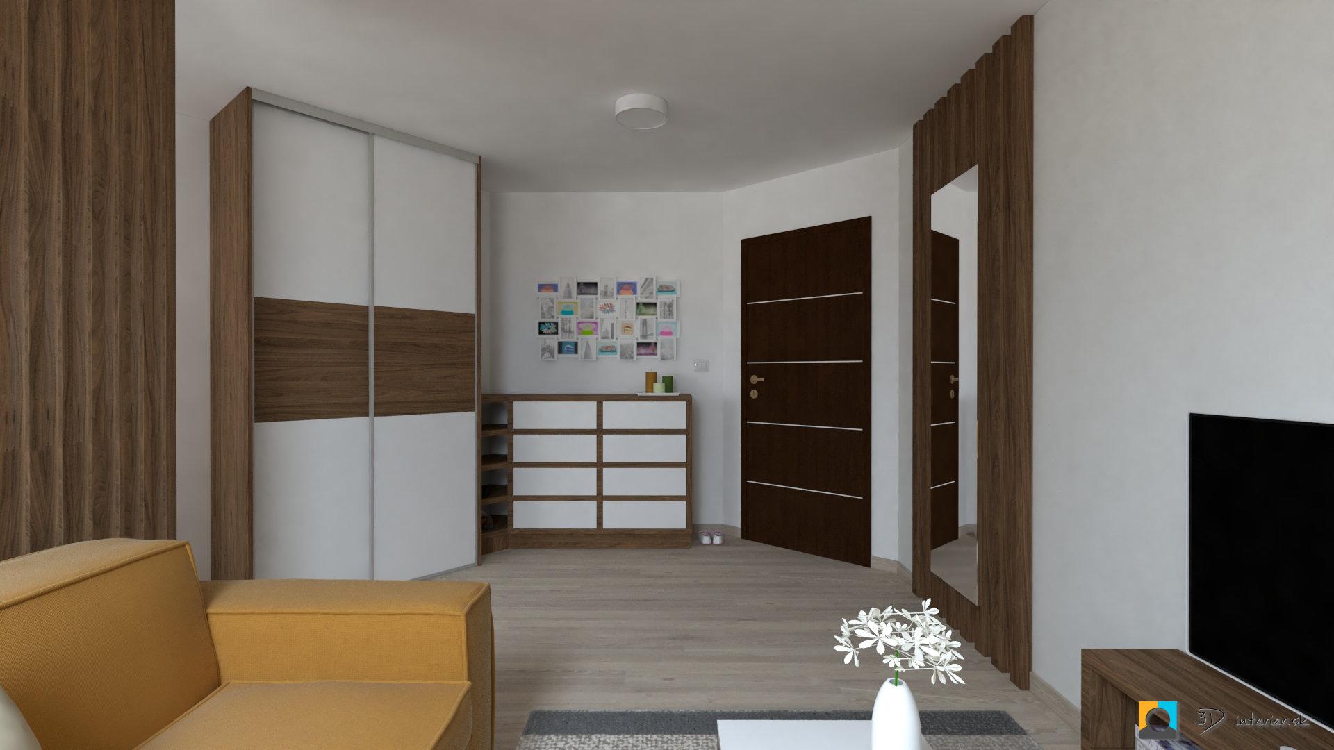 návrh interiéru izba komoda