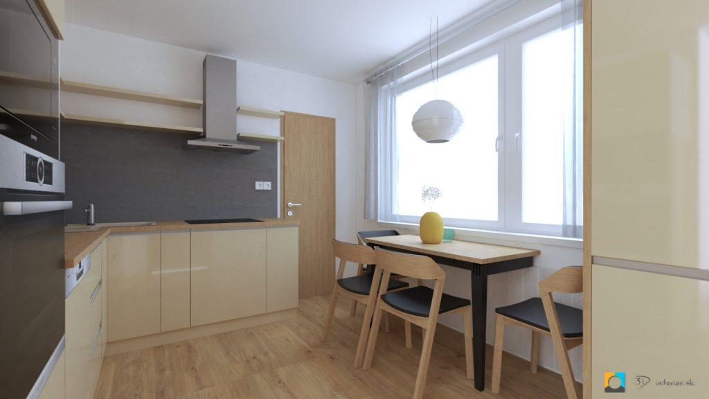 kuchyňa 4 izbový byt návrh