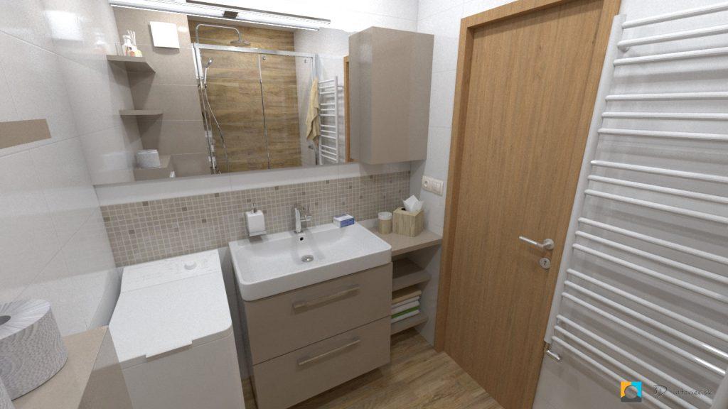 návrh kúpeľne v byte