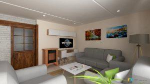 dizajn interiéru obývačky