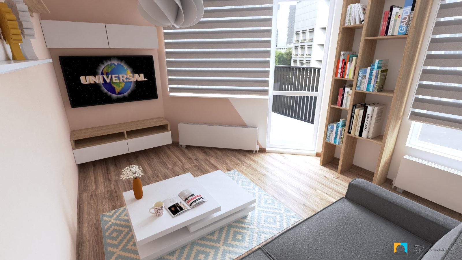 Netradičná obývacia izba – Bratislava Ružinov