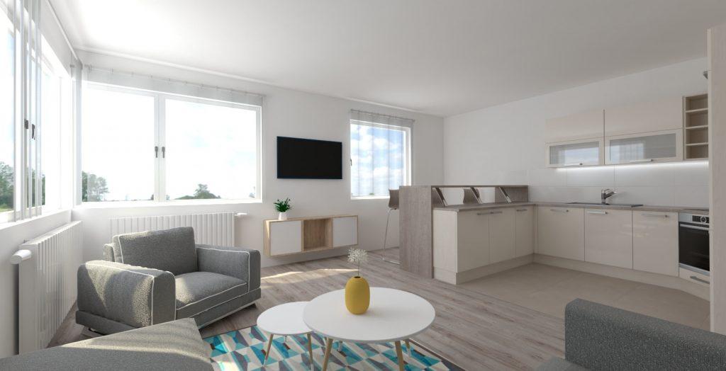 moderný interiér bytu prešov
