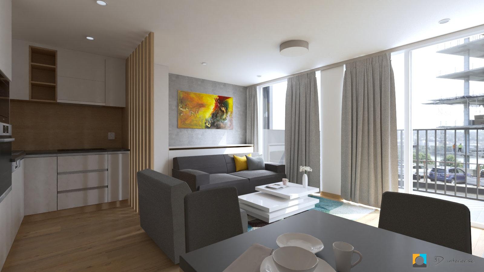 navrh interieru byt v novej dedinke pri senci