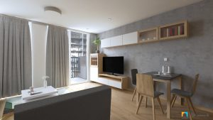 dizajn obývačky v malom byte