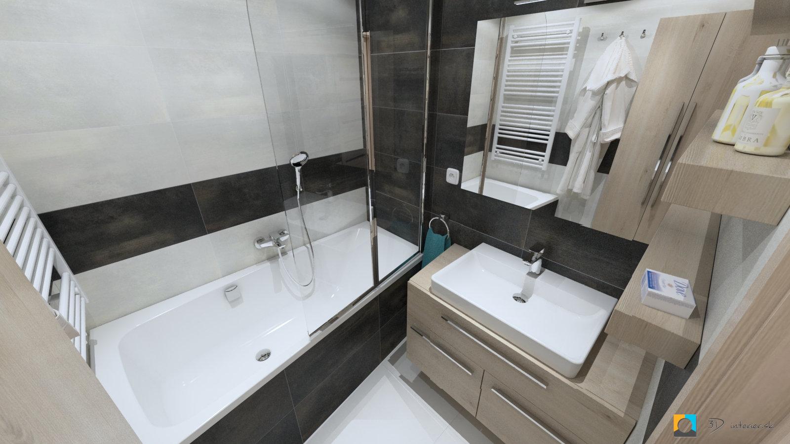 Malá kúpeľňa v byte