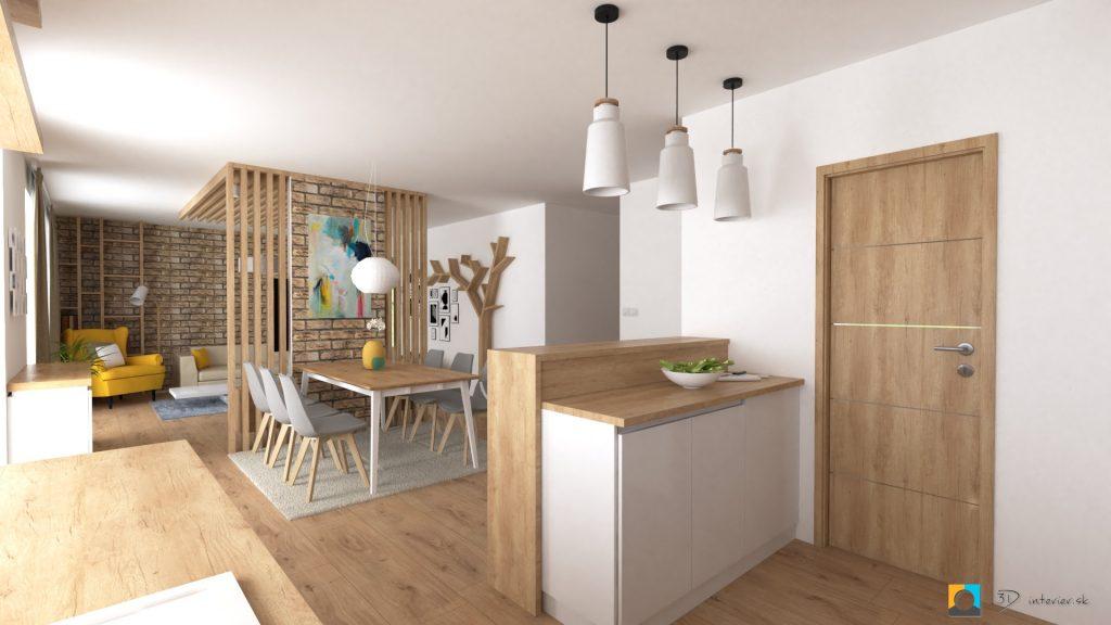 spojená kuchyňa s obývačkou janovce bardejov
