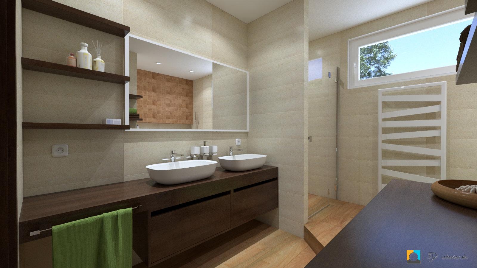 Interiérový dizajn bytovej kúpeľne – Sabinov