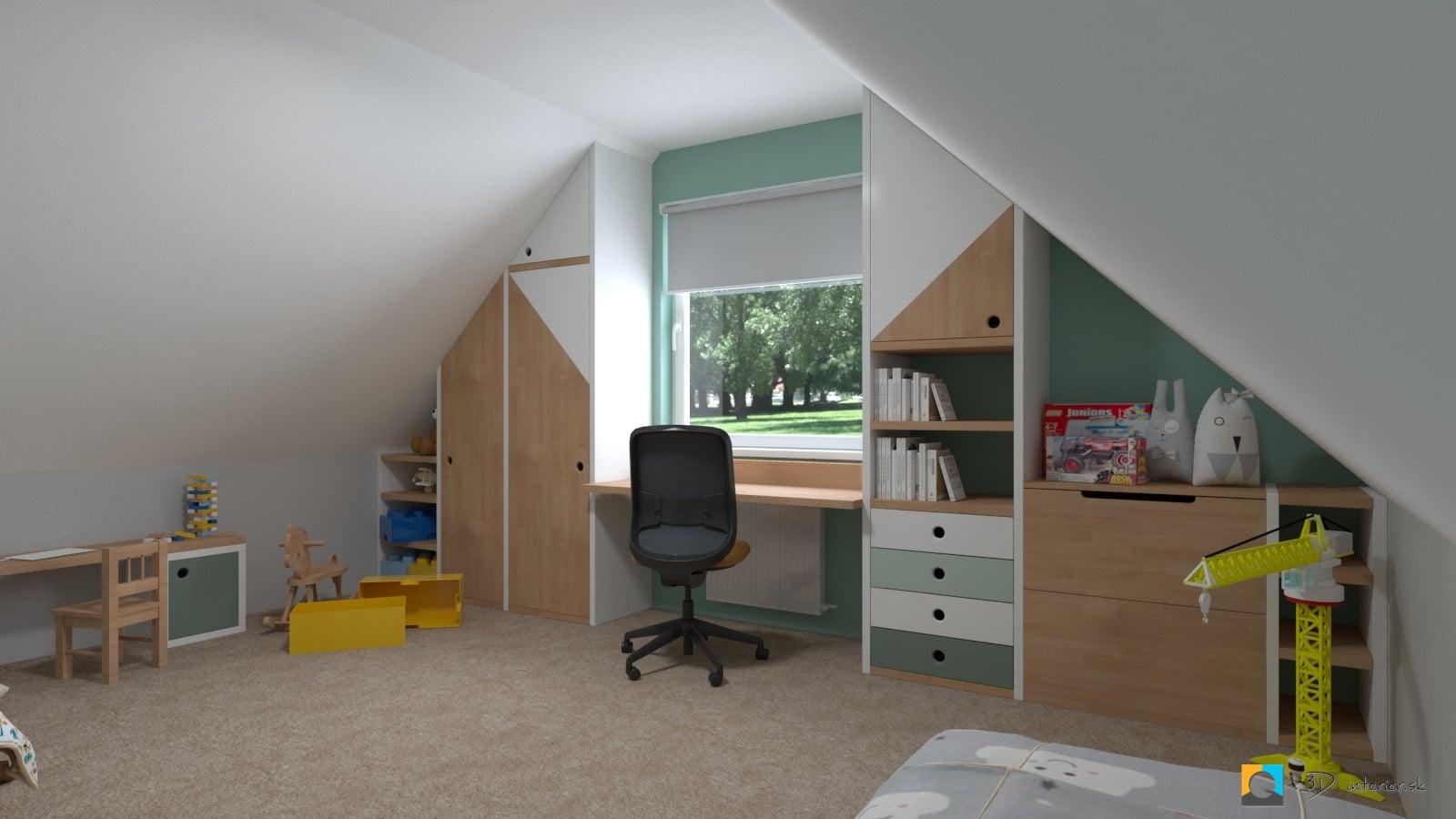 Podkrovná detská izba na mieru