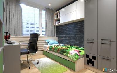 Detská izba v štýle Minecraft