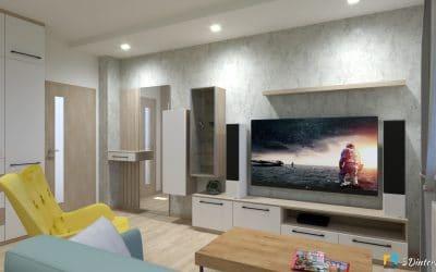 Návrh 2v1 – obývačka so spálňou