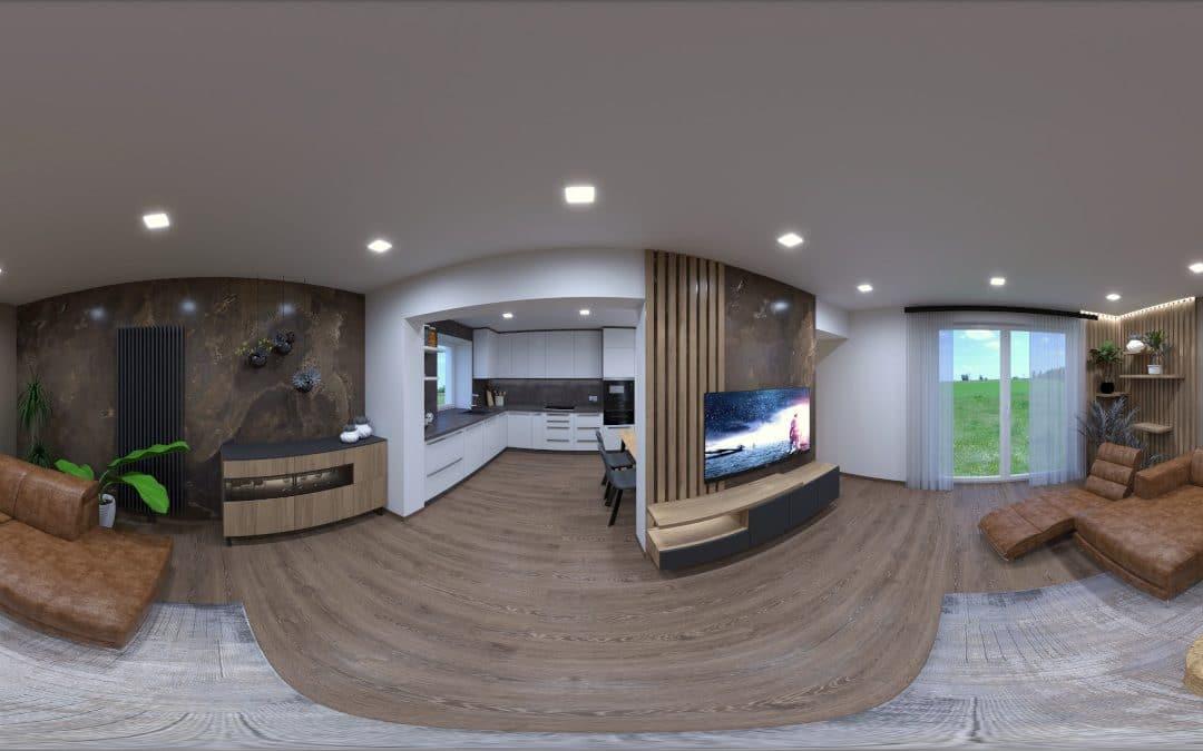 Virtuálna prehliadka interiéru – rodinný dom rekonštrukcia
