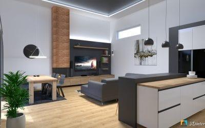 Interiér s vysokým stropom KOL