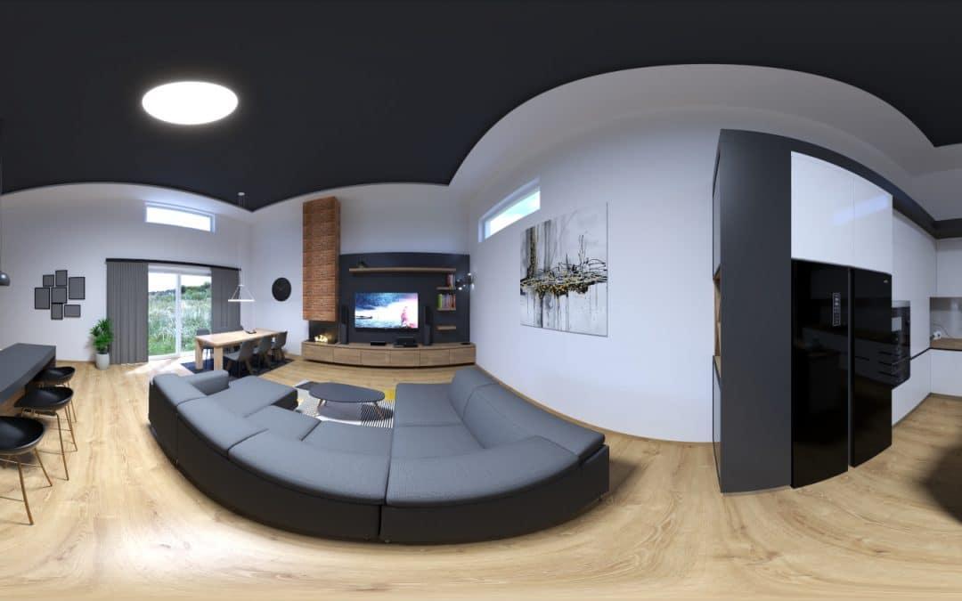 Virtuálna prehliadka – Interiér s vysokým stropom KOL