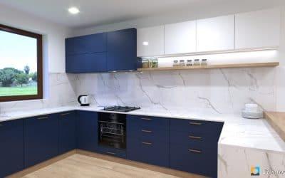 4 farebné verzie jednej kuchyne