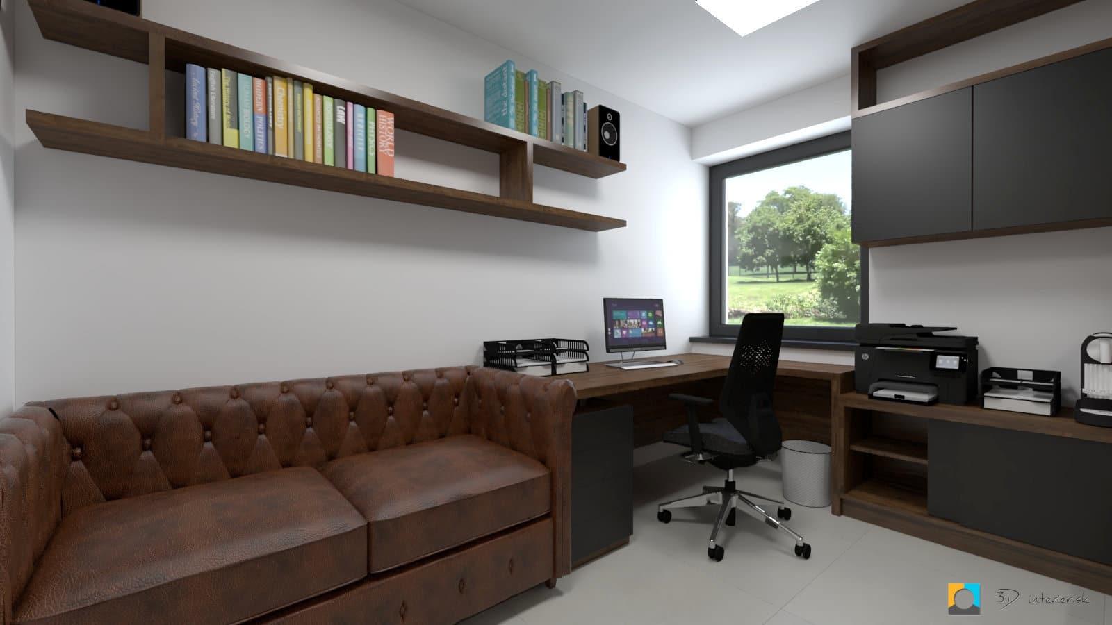 Home office 1 – pánska pracovňa