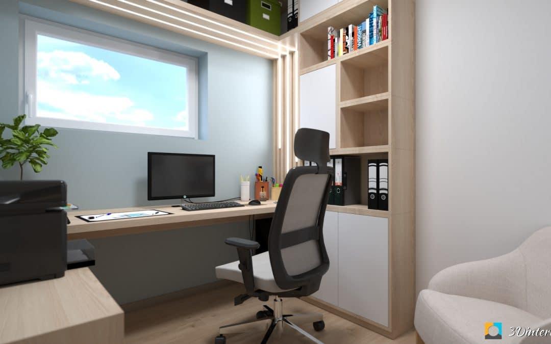 Home office 3 – Malá a útulná pracovňa