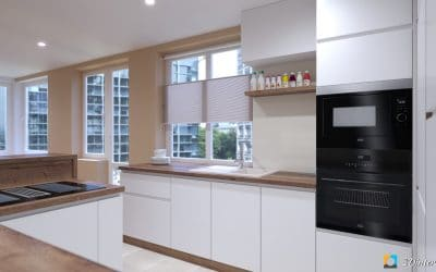 vyvazena kuchyna so skrytymi dverami do spajze