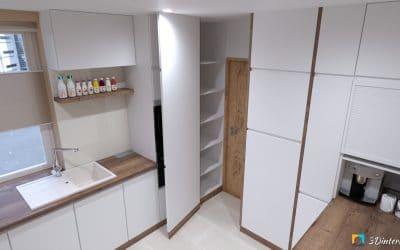Skryté dvere v kuchynskej linke